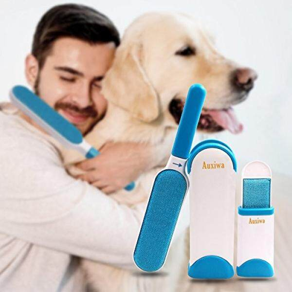 Pet Fur & Lint Remover with Self-Cleaning Brush for Dot Cat Pets Removes Hair from Clothes & Furniture Travel Size - intl
