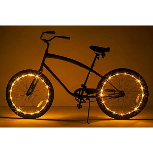 ALMM Brightz, Ltd. Wheel Brightz LED Bicycle Accessory Light (2-Pack Bundle for 2 Tires), Gold - intl