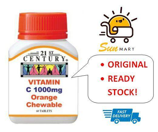 21st Century Vitamin C 1000mg Chewable 60's