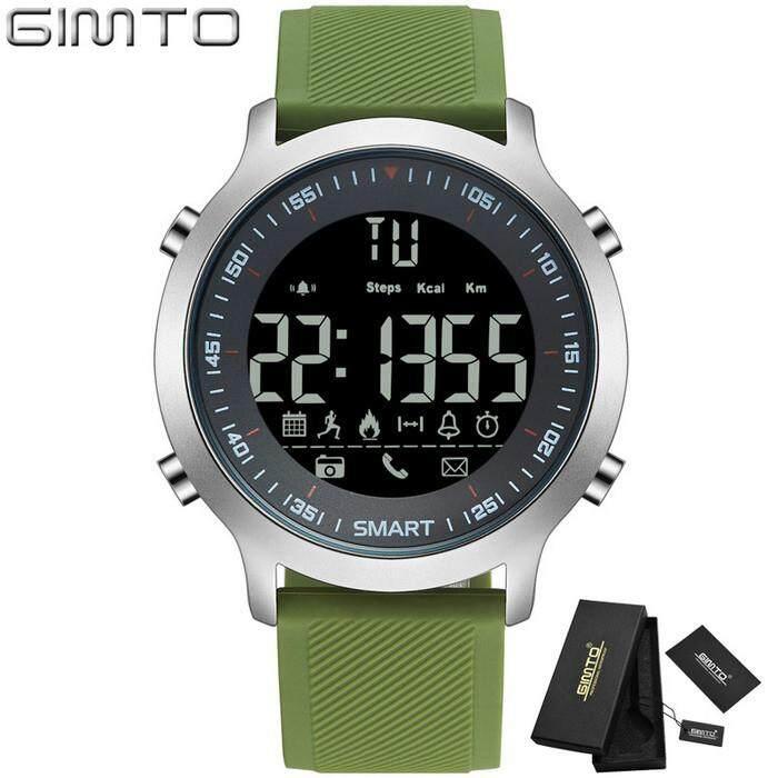 Gimto 2018 Cool Outdoor Sport Smartwatch Pria Wanita Stopwatch Jam Tangan Militer dengan LED Digital Elektronik Jam Tangan Jam Tangan Pintar Pedometer GM307