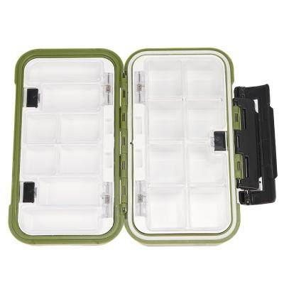 Professional Fishing Tackle Boxing Double Layer 16 Compartments Lure Box (GREEN)