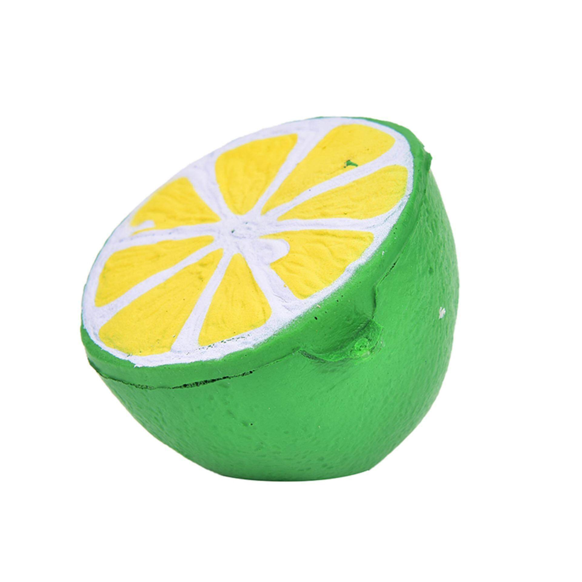 Squishy Jumbo Half Lemon Fruit Scented Super Slow Rising Keyring Kid Fun Toy Green