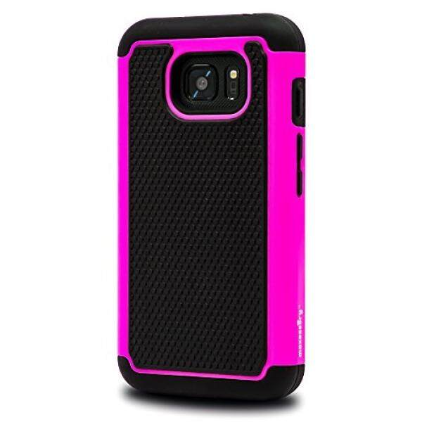 Samsung Galaxy S7 Active Case, Maxessory [Haven] Slim Shock-Proof Rugged Tough Protector Armor Shell w/ Durable Ultra-Slim Impact Protection TPU Thin Grip Cover Pink Black For Samsung Galaxy S7 Active - intl