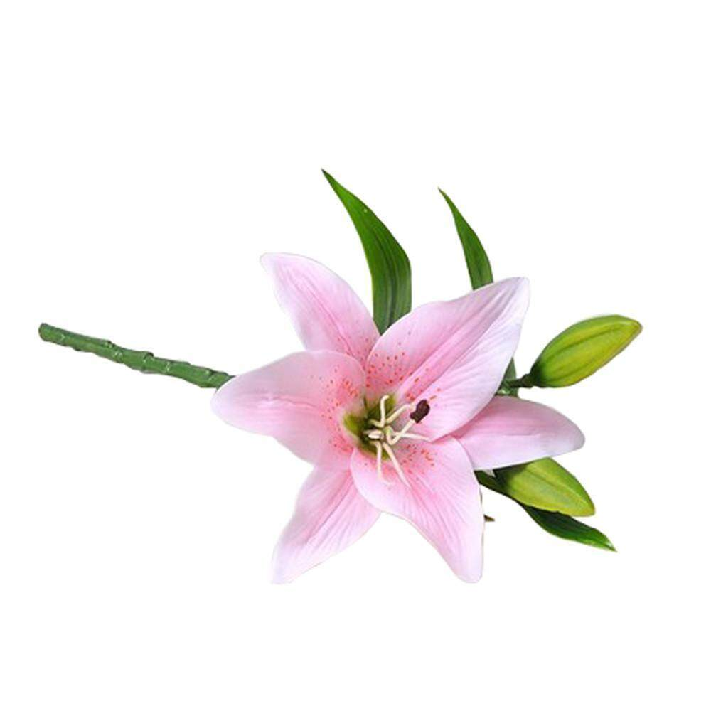 Wall stickers for sale wall decals prices brands review in boobc wers 4 color artificial lily flower simulation fake decoration flower for home decor wedding izmirmasajfo