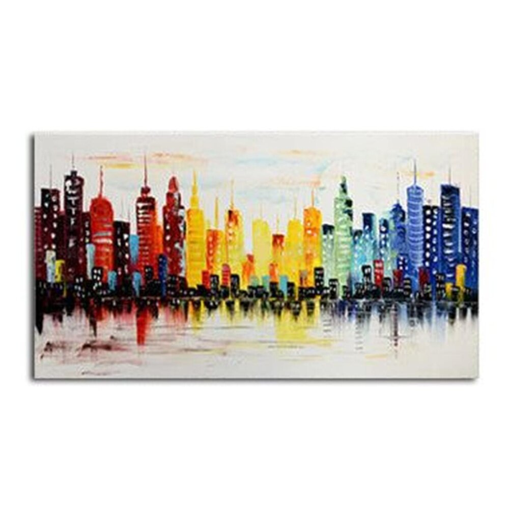 Modern Asian City Canvas Abstract Painting Print Living Room Wall Decor No Frame - intl