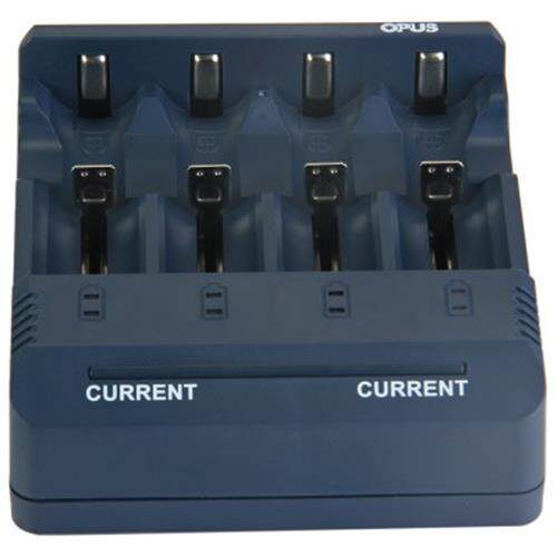 OPUS BT - C1000 INTELLIGENT LI-ION NICD NIMH DIGITAL BATTERY CHARGER - EU PLUG (PURPLISH BLUE)