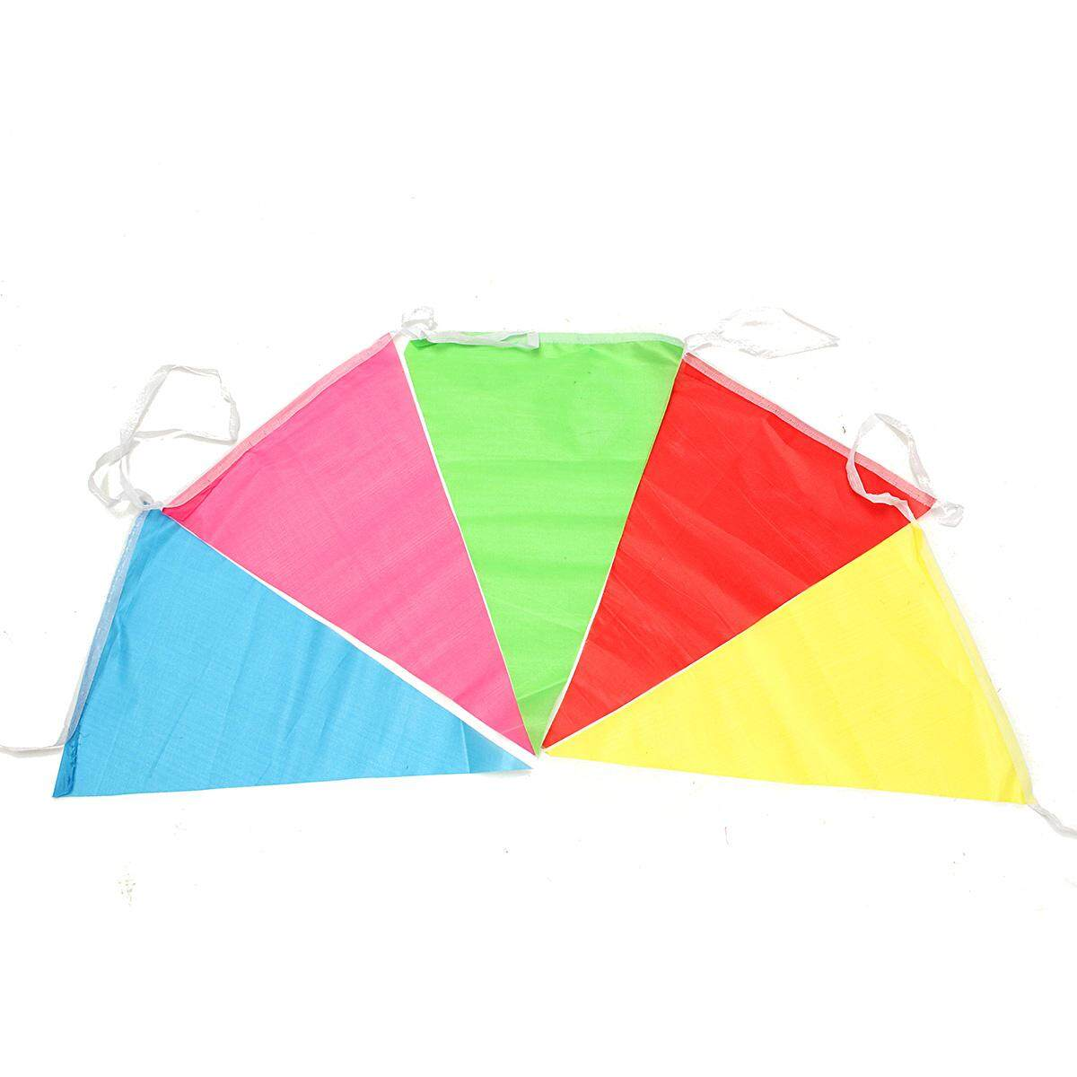 Hình ảnh 80M Rainbow Happy Birthday Party Banner/Bunting Flags Dessert Table Decor New - intl