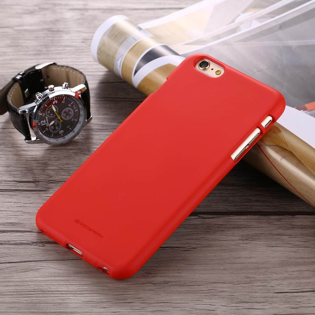 Fitur Mercury Goospery Soft Feeling For Iphone 6 6s Liquid State Pearl Jelly Case Mint Tpu Drop Proof