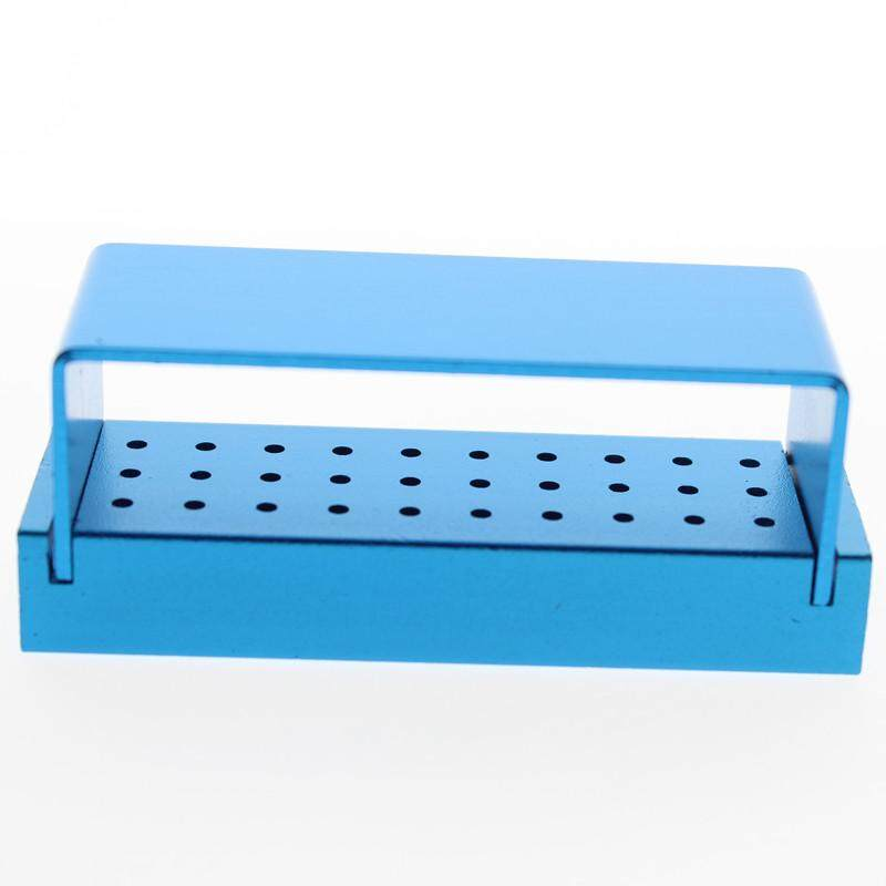 30 Holes Dental Bur Holder Stand Autoclave Disinfection Box Case