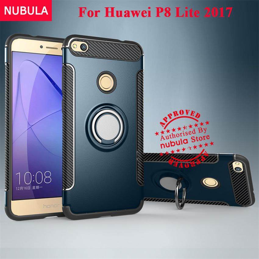 NUBULA 2 in 1 Hard Back Cover For Huawei Nova Lite/Huawei P8 Lite 2017/Huawei Honor 8 Lite/Huawei P9 Lite 2017 Case Armor Rugged Shockproof Case With Built-in Stand Ring and Vehicle Magnetic Absorption