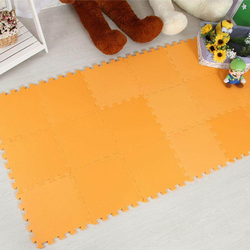 Buy Vvcare Bc Fm01 9 Tile Solid Eva Foam Baby Playmat Kids Safety Exercise Floor Mat Orange Intl Not Specified Cheap