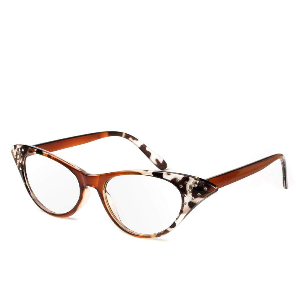 +2.00 Cat Eye Reading Retro Glasses Reader Eyewaer Glasses Plastic Frame - Intl By Qianstore.