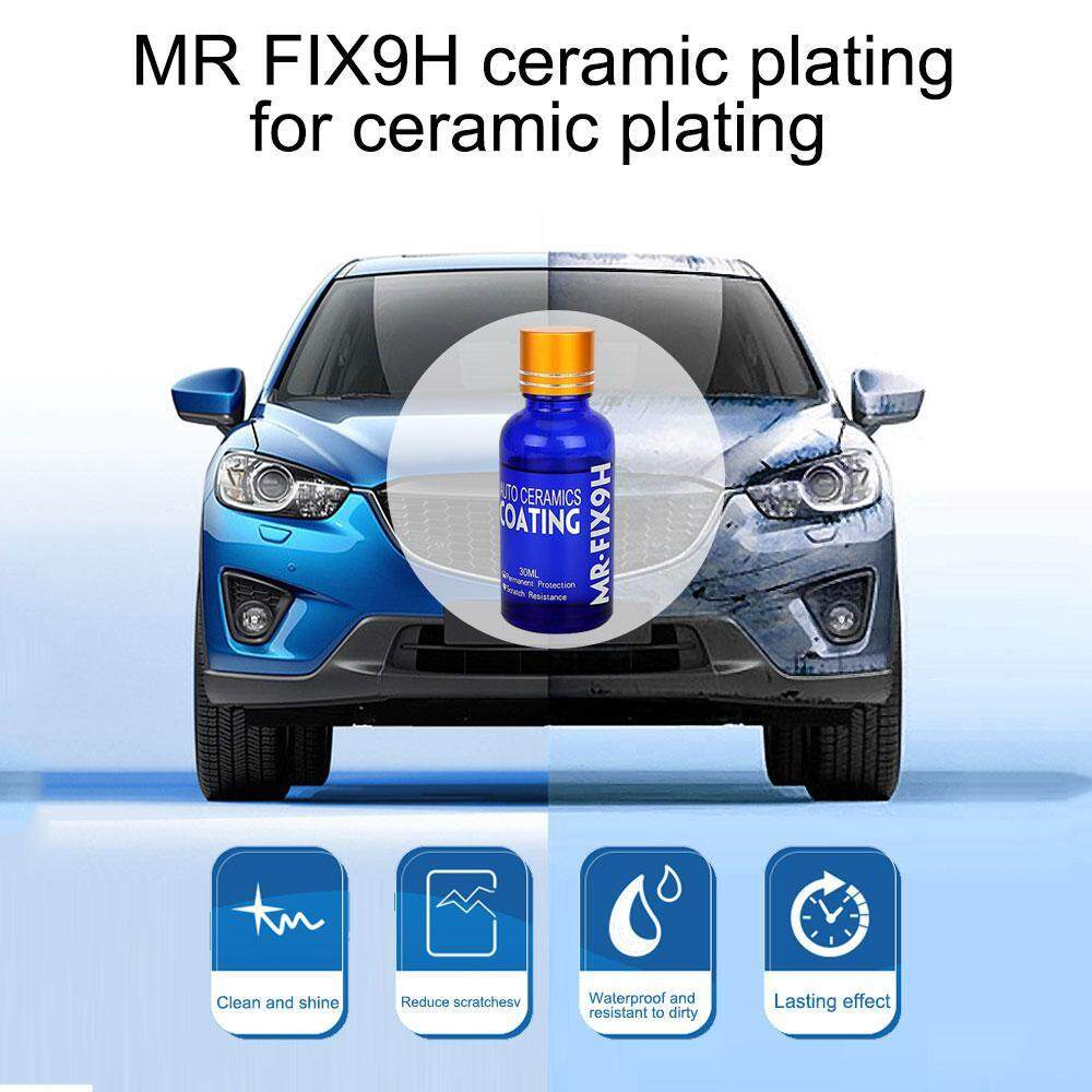 niceEshop Car Liquid Ceramic Coat Motocycle Paint Care Super Hydrophobic Glass Coating Anti-scratch Car Polish Auto Detailing Glasscoat - intl