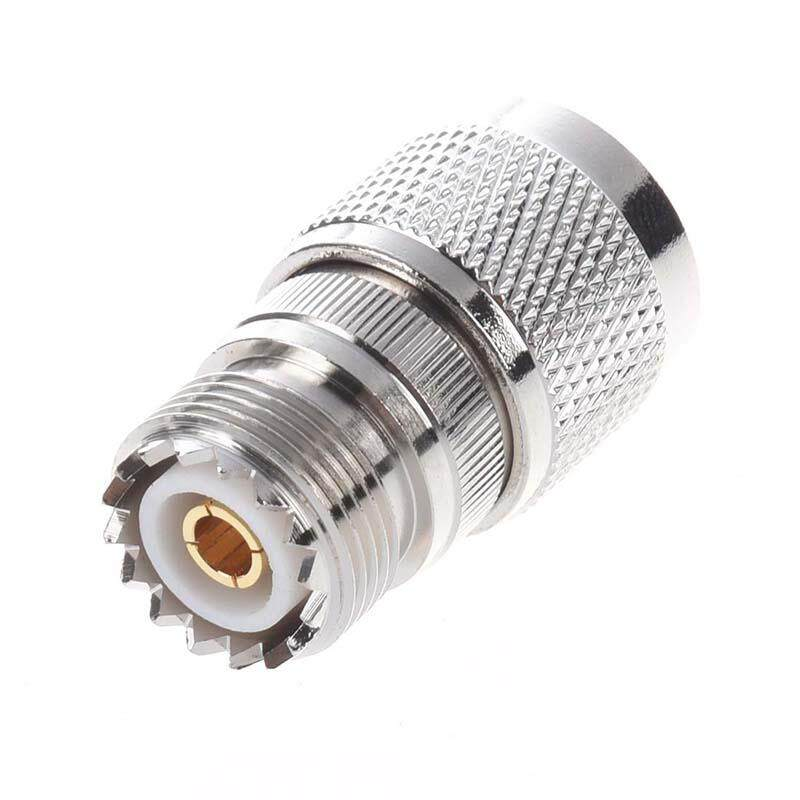Straight N Male to UHF SO-239 Female Jack Coax Adapter Connector