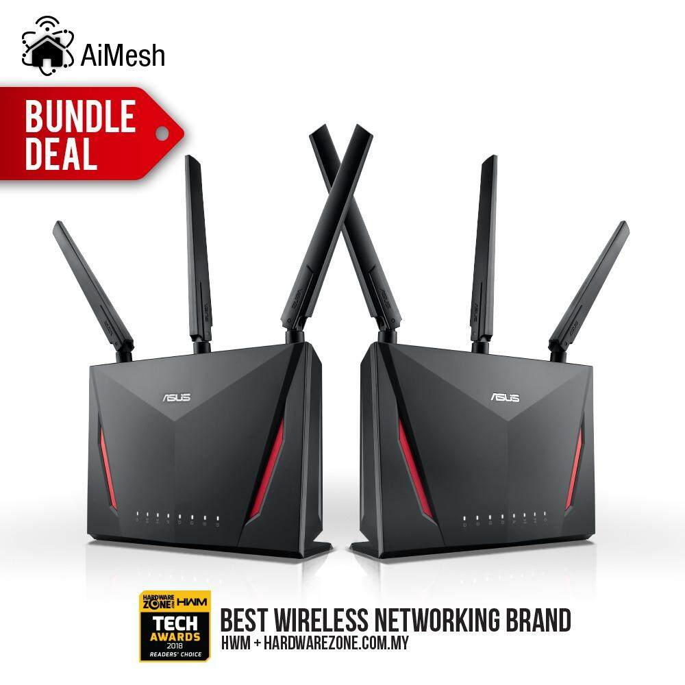 Sell Router Asus Gigabit Cheapest Best Quality My Store Rt Ac55uhp Dual Band High Power Wireless Ac 1200 Mbps Myr 2938 Ac86u Ac2900 Wifi Gaming