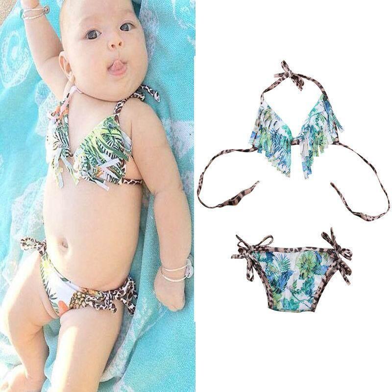 Panas Bayi Gadis Rumbai Bikini Baju Renang Baju Renang Musim Panas Pakaian