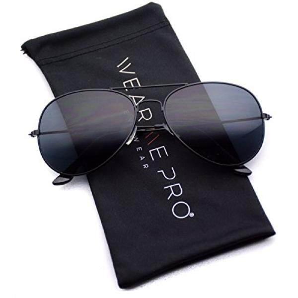 Wearme Pro-Klasik Polisi Logam Standar Kacamata Pilot-Gelap Lensa