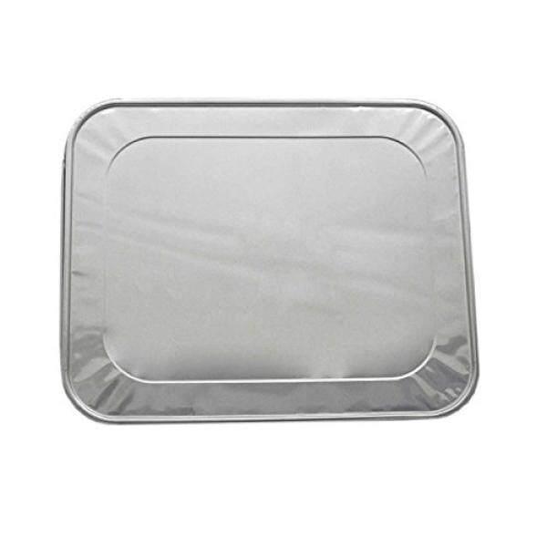 20-Bungkus Aluminium Kertas Perak Lids untuk 9X13 Aluminium Panci Meja Uap, Panci Roti, dan Drip Pans-Cocok Ukuran Setengah Sekali Pakai Perak Kertas Perak Wadah Makanan-Ekstra Tebal dan Kokoh, sempurna untuk Penyimpanan Makanan & S-Internasional