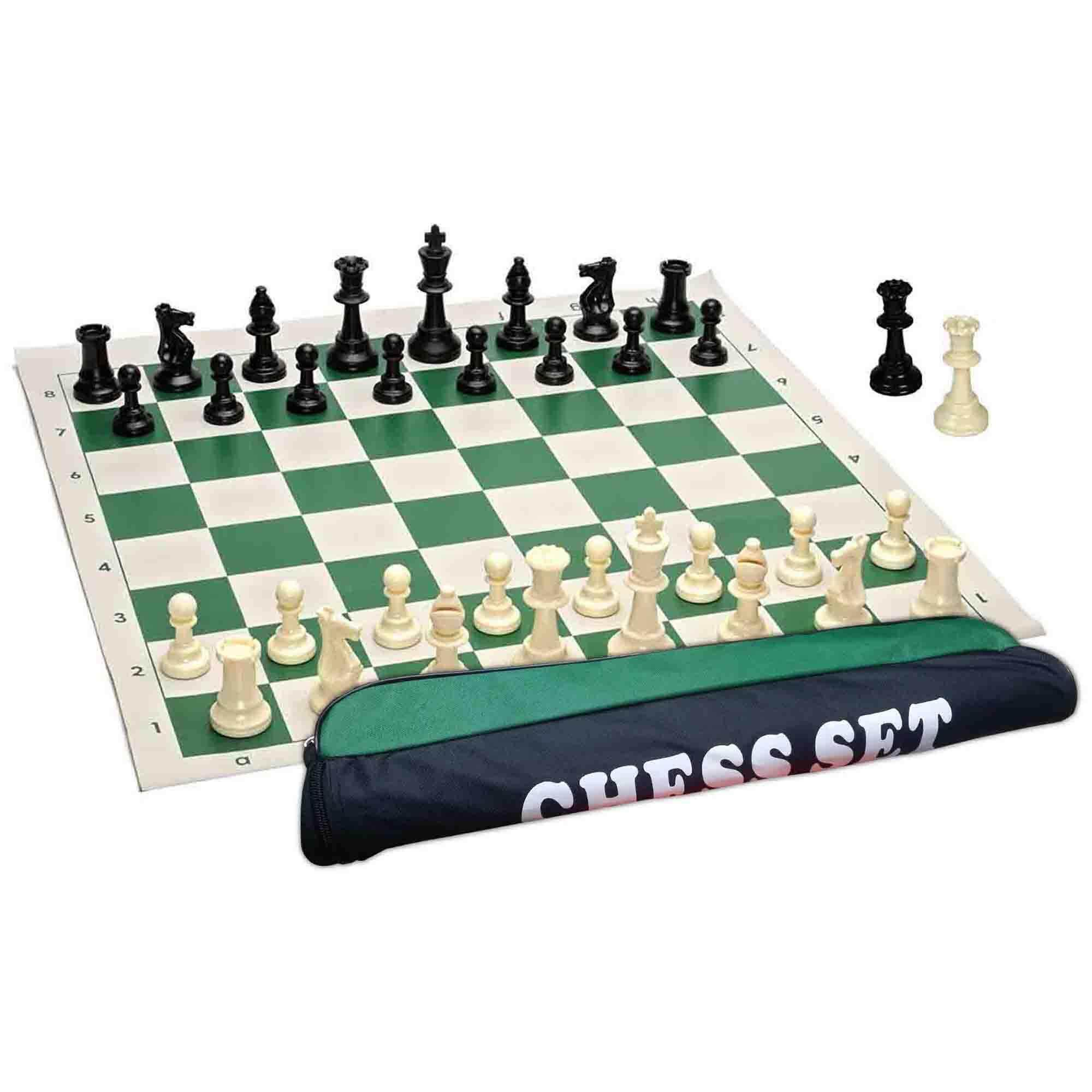 Roll-up Travel Chess Set With A Carrybag 42 cm X 42 cm
