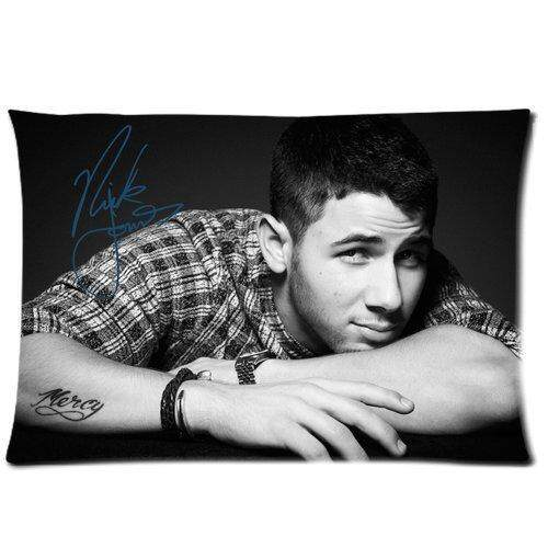 Bedroom Decor Custom Nick Jonas Pillowcase Soft Zippered Throw Pillow Cover Cushion Case Covers Fasfion Design Two Sides Printed 20x26 Pillows - intl