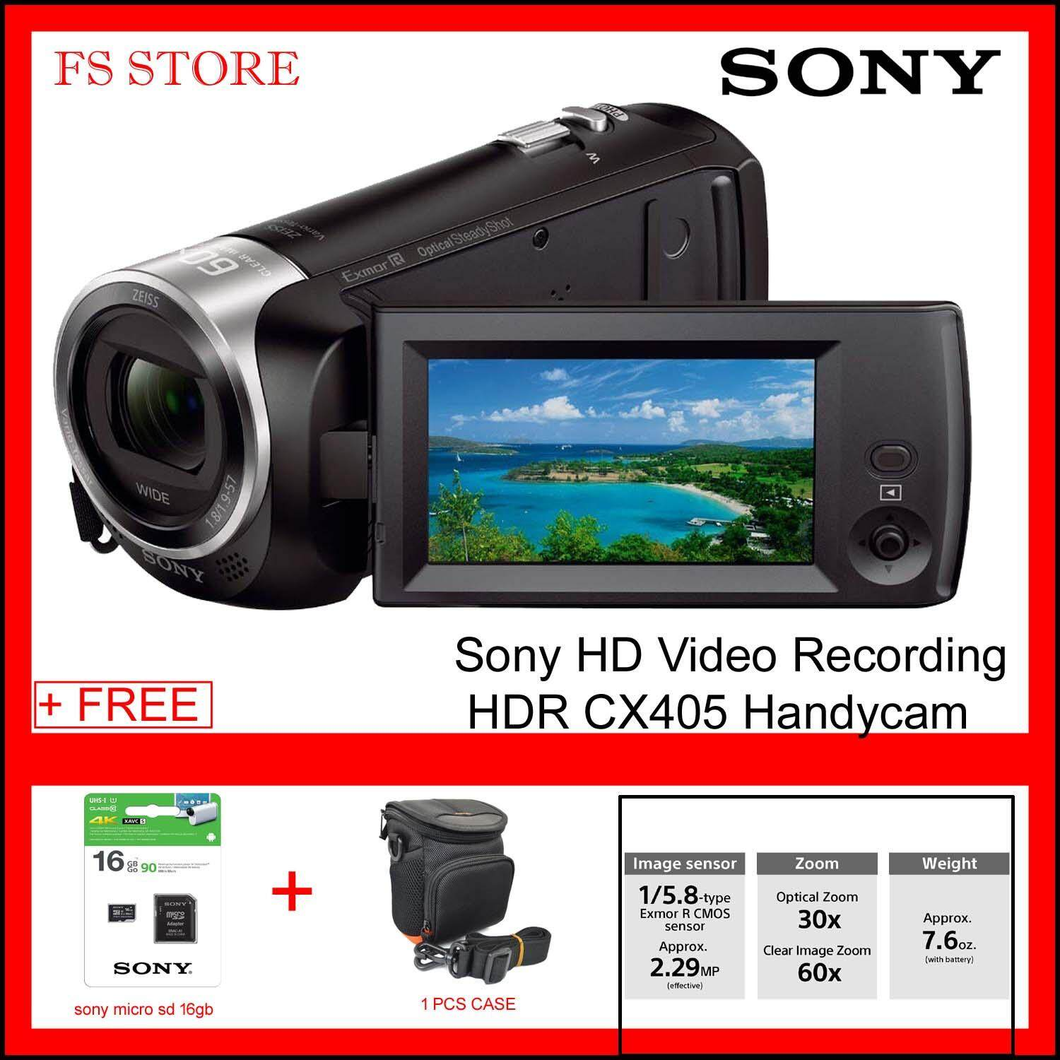 Sony HD Video Recording HDR CX405 Handycam Camcorder FREE 16GB MICRO SD & CASE ORIGINAL MALAYSIA