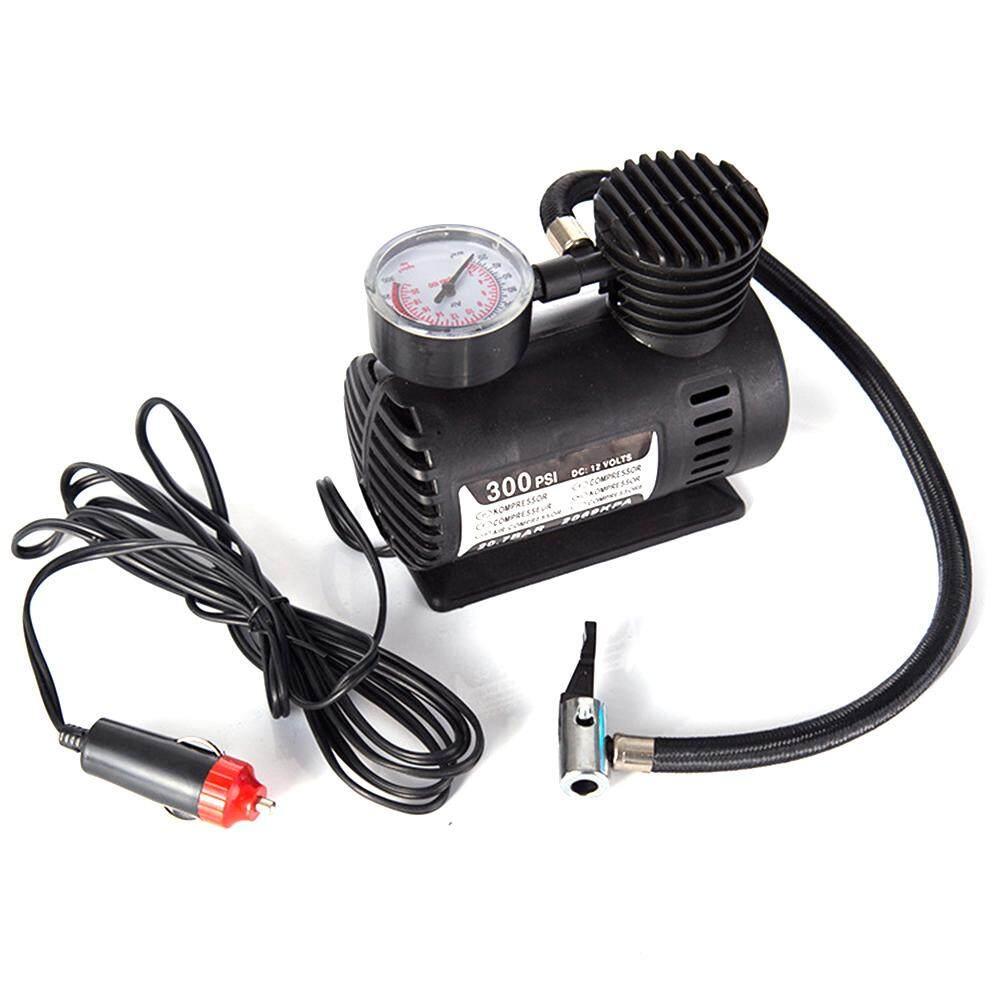 Mobil Mini Elektrik Inflation Pompa Portabel Tire Inflator Udara 300PSI Otomatis Pompa Kompresor untuk Sepeda Motor Sepeda Motor Keranjang-Internasional