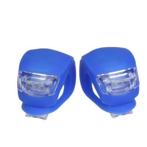 2pcs LED Motorcycle Tail Lamp Bikecycle Warning Flashing Light (BLUE)