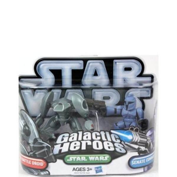 Star Wars 2010 Pahlawan Galaksi Mini Gambar 2 Pack Senat Penjaga Aqua Droid-Intl