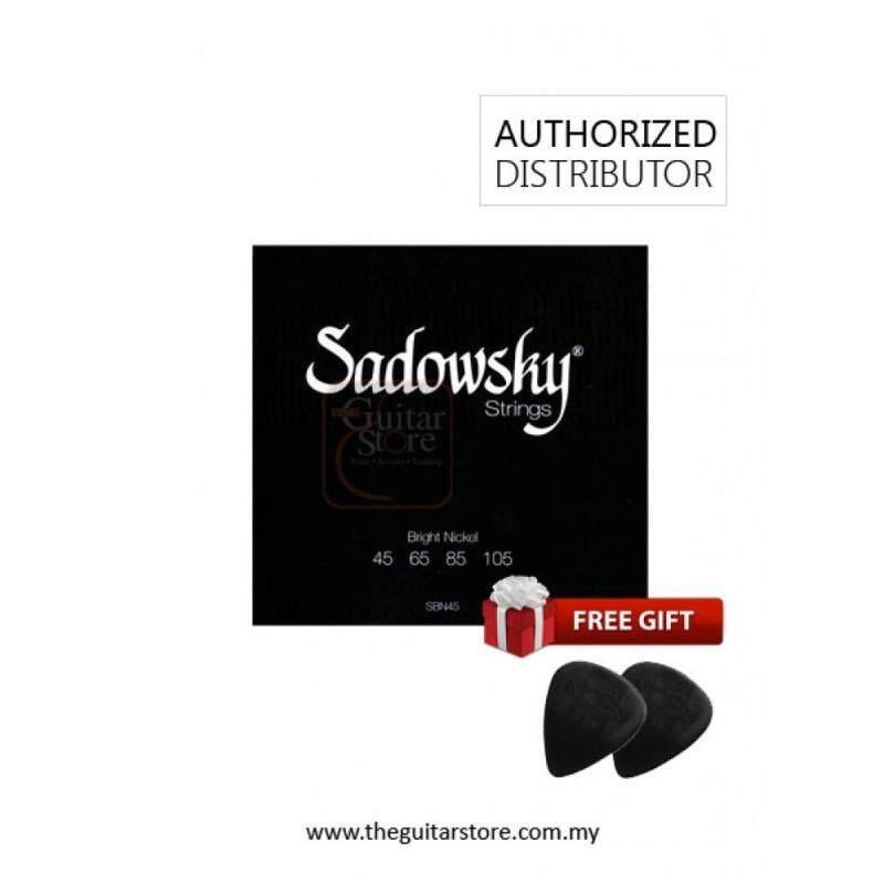 Sadowsky Black Label Bright Nickel Round SBN45 Black - 4 String Malaysia