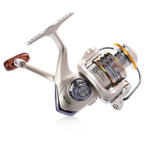 LIE YU WANG HB 12 + 1 BEARINGS FISHING REEL (LIGHT GOLD)