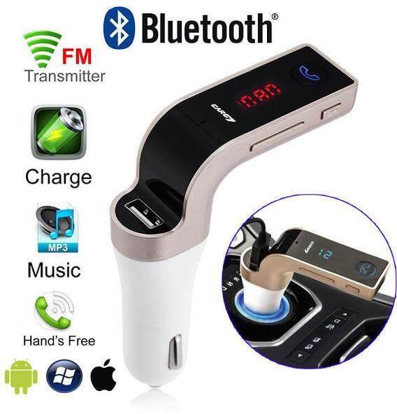 Handsfree Wireless Bluetooth FM Transmitter G7 AUX Modulator Car Kit MP3 Player Support SD