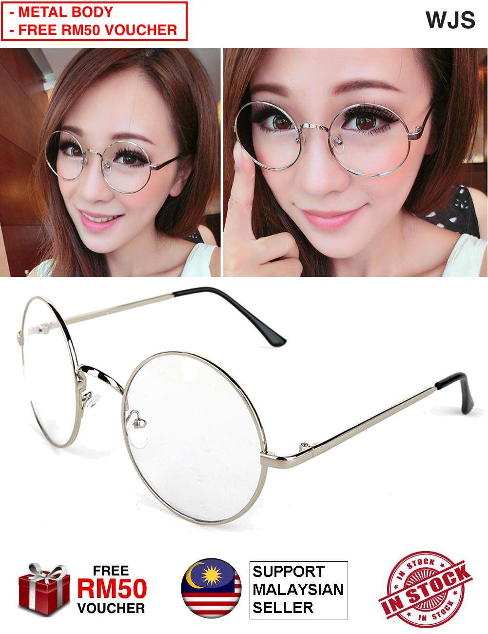(SMART LOOKING) WJS Round Glasses Dress Up Spectacles Fashion Glass Specs Sunglass Sunglasses Harry Potter Korean Fashion Korea Black Bronze Gold Silver [FREE RM 50 VOUCHER]
