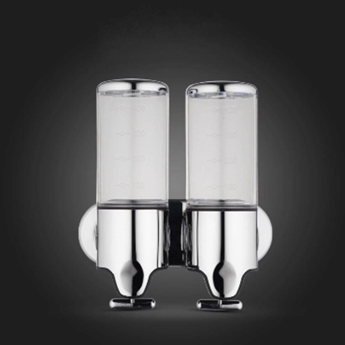 Hotel Pancuran Manual Dispenser Rumah Tangga Anti Karat Cuci Cair Sampo Botol Sabun, Kapasitas: 1000 Ml (Transparan) -Internasional