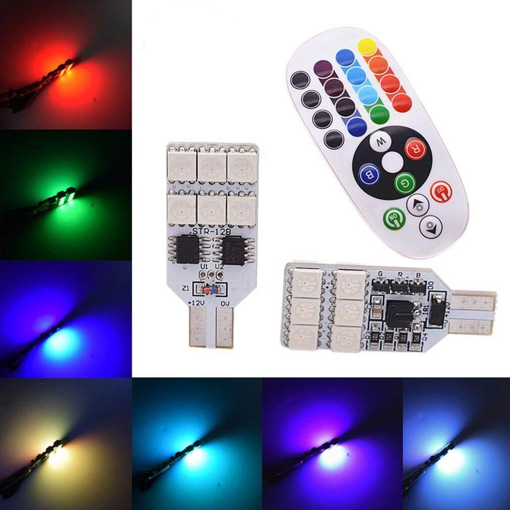 Ge 12 LED Jarak Jauh Pengendali RGB Mobil Kubah Ringan T10 5050 Membaca Lampu Indikator Lampu