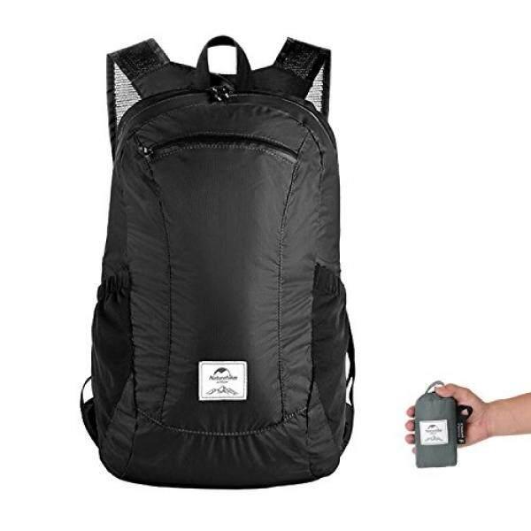 Ultralight Lipat Packable Daypack Daki Gunung Kecil Ransel untuk Wanita Pria Oleh Naturehike, ringan 18L Anti-Air untuk Pendakian Kemah Backpacking Sepeda Perjalanan Bisnis Airplane (Hitam)-Internasional