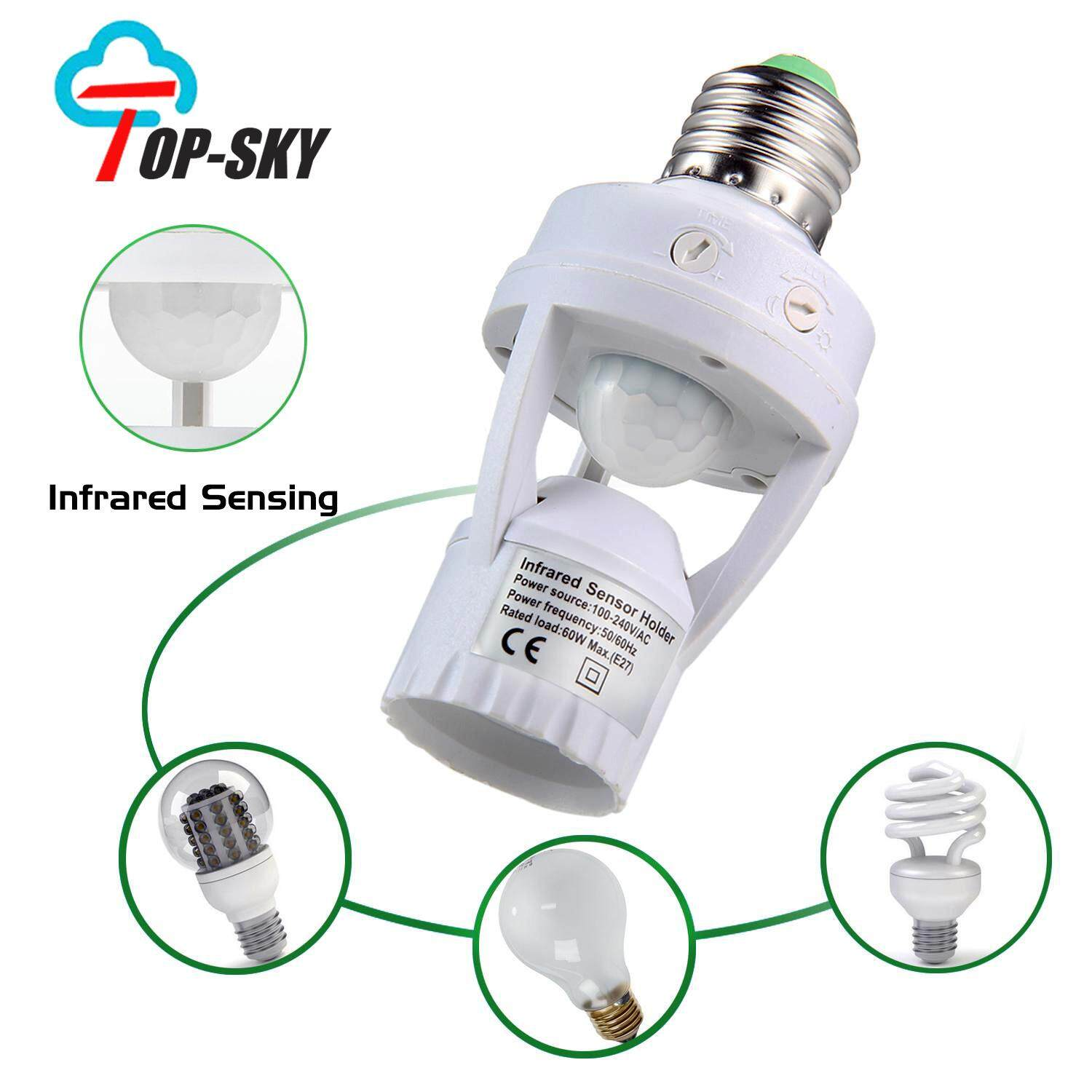 Philippines top sky smart infrared sensor holder motion light sensor lamp socket pir automatic led lights