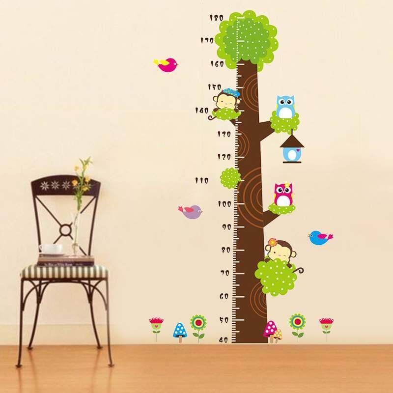 Zoahu Cartoon Monkeys Children Height Measure Wall Stickers For Kids Room Wall Sticker Home Decoration