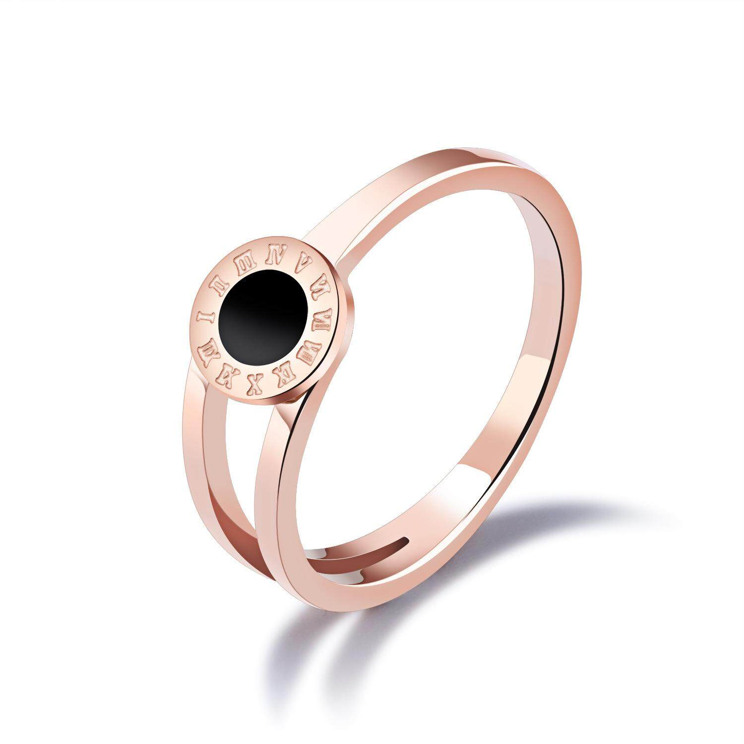 Detail Gambar Women Fashion Rome Number Ring Lady High Quality Rose Gold Ring Terbaru
