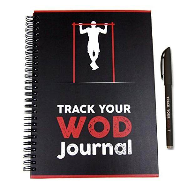ALMM Track Your WOD Journal - The Ultimate Cross Training Tracking Journal. 3rd ed. 6x9 Hardcover w/ pen included. Track 210 WODs, 9 benchmarks + 25 Girls + 25 Hero WODs, and all your Personal Records. - intl