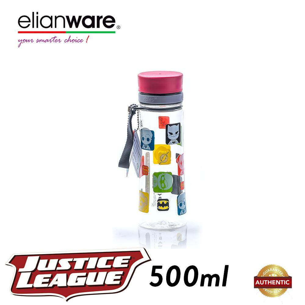 Elianware DC Justice League 500ml BPA Free Transparent Water Tumbler
