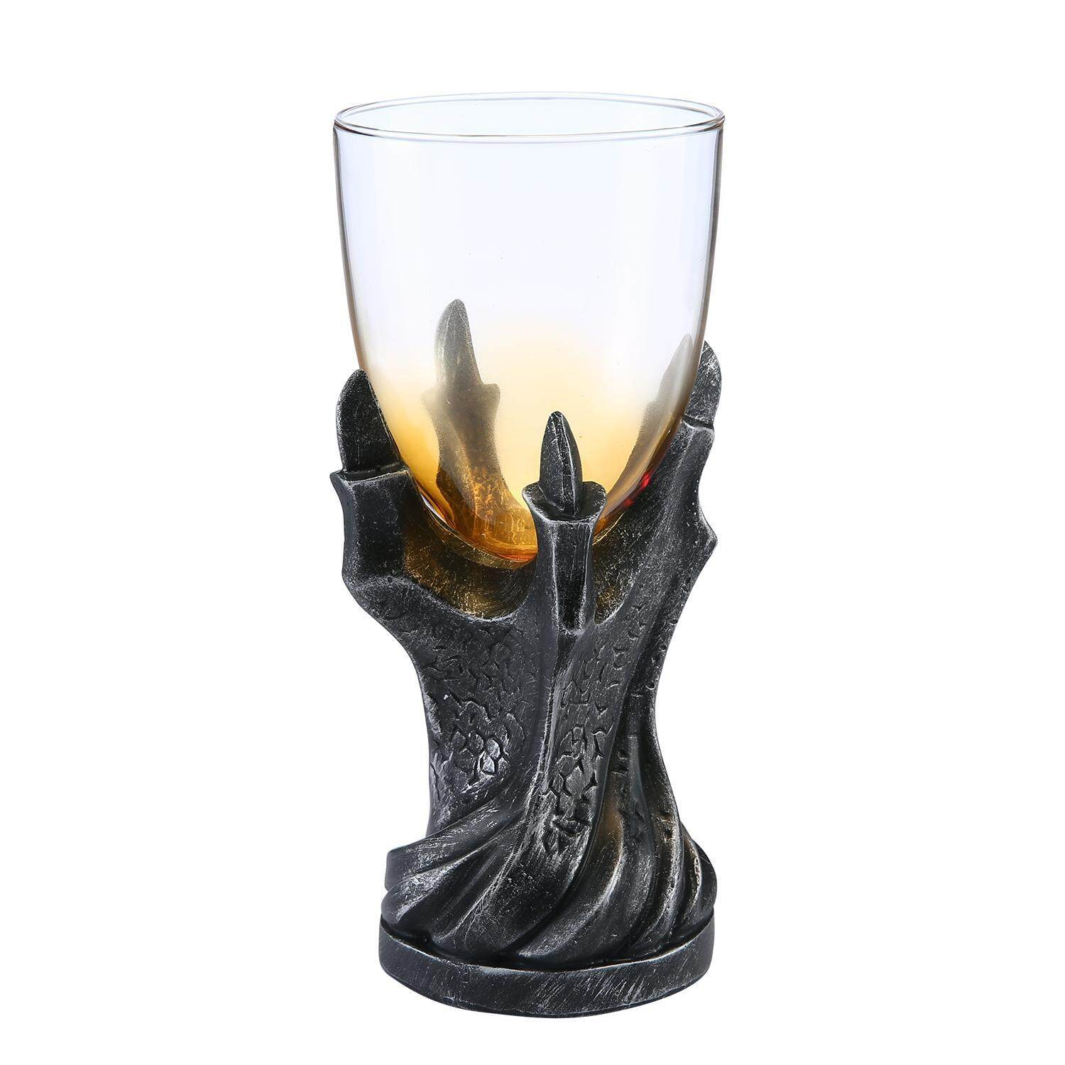 yuwen 3D Dragon Claw Goblet , Personality Whiskey Resin Glass Goblet (Black) - intl