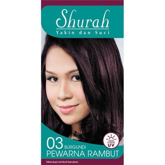 Shurah Pewarna Rambut dengan Pelindungi UV (Halal) 03 Burgundi