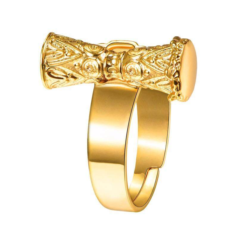 U7 Kundu Ring Gold Color Indian/Papua New Guinea Jewelry Traditional Drum PNG Adjustable KUNDU Ring (Gold) - intl