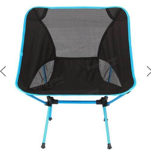 Outdoor Portable Folding Chair Camping Hiking Beach Seat Stool For BBQ Picnic Dark Blue - intl