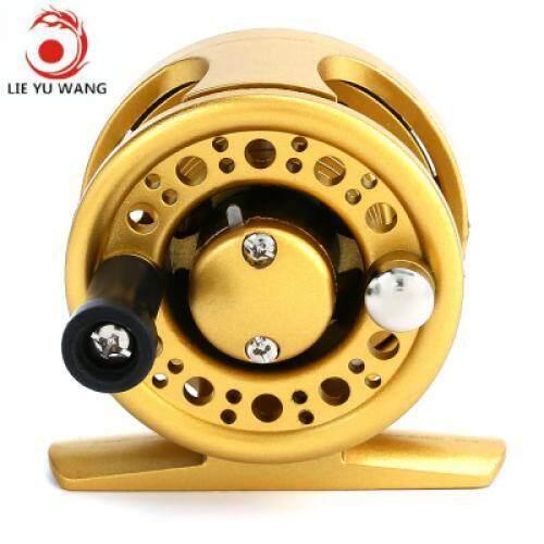 LIE YU WANG 1 + 1BB Ice Flying Raft Fishing Fly Fish Reel Wheel (GOLDEN)