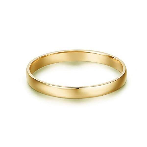 14 K Gold 2 Mm Kenyamanan Cahaya Sesuai Klasik Polos Kawin (Kuning-Gold, 7.5) -Internasional