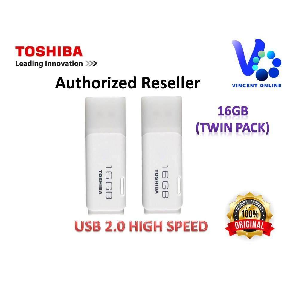 Toshiba Hayabusa Usb Flash Drive Pendrive 16gb Twin Pack Malaysia Disk 32 Gb Original