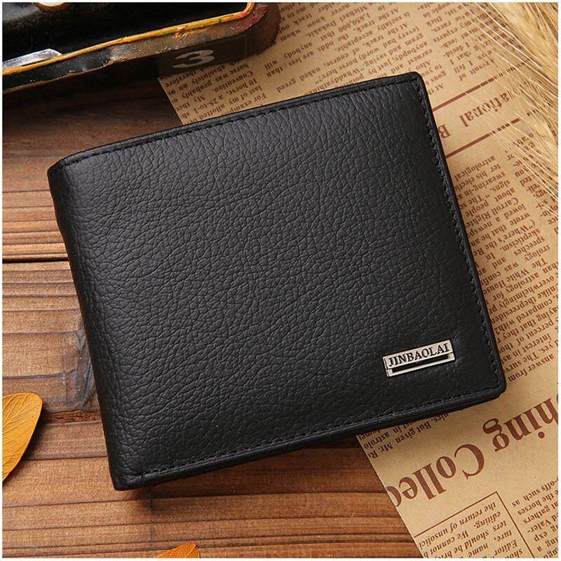 JINBAOLAI Small Short Leather Men's Wallet Male Wallet Bag Wallet Vallet Card Money Persian world Wallet