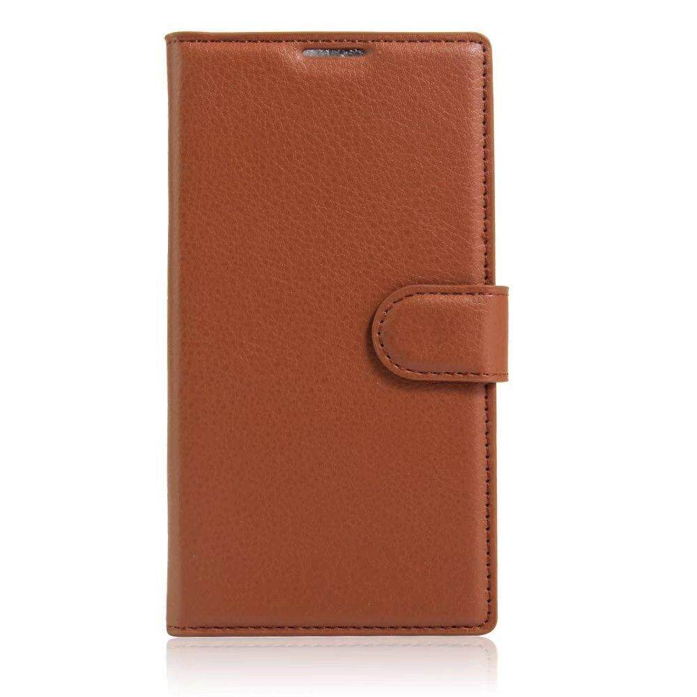 Leather Flip Cover Wallet Card Holder Case For Alcatel Hero / OT8020T - intl