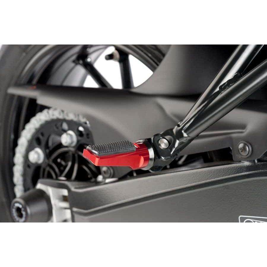 PUIG Racing Footpegs Passenger - Honda - RED with Rubber